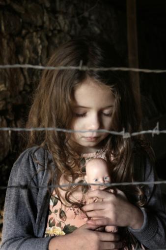 a sad little girl