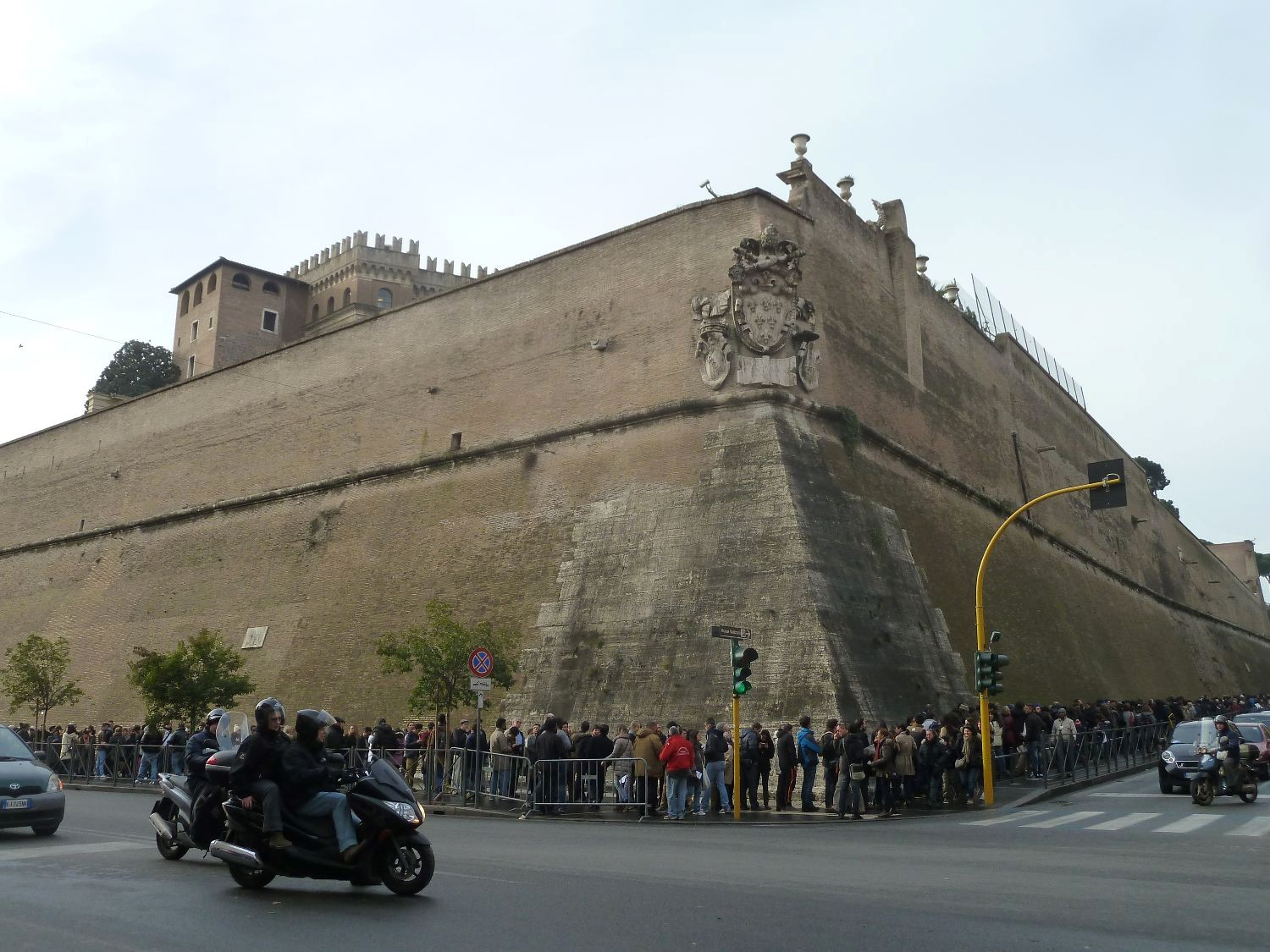 Building Of The Vatican Wall