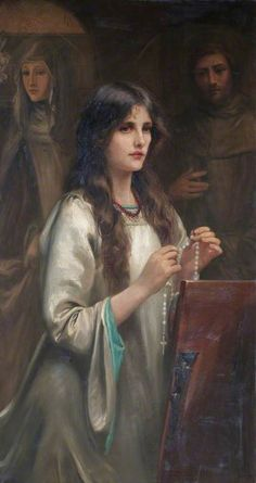 girl praying rosary