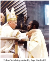 Fr. Linus Clovis, Ordained by Pope John Paul II