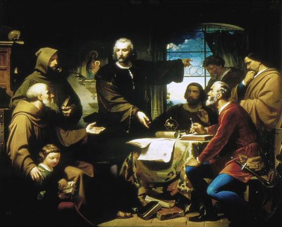 06 cristobal colon en el monasterio de la rabida s