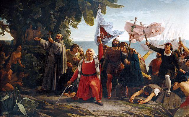 Desembarco de Colón de Dióscoro Puebla