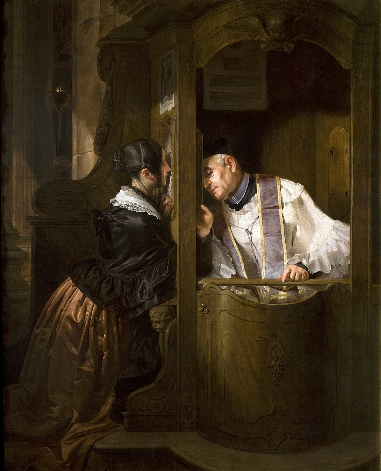 La confessione by Molteni Giuseppe