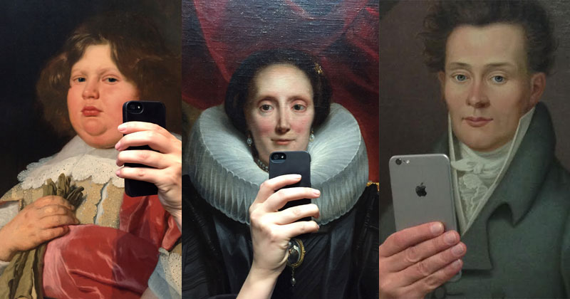 art selfies
