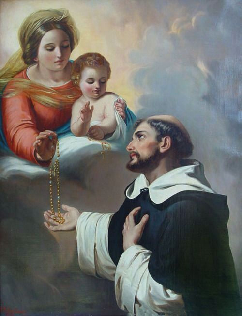 Image result for St. Dominic and the rosary