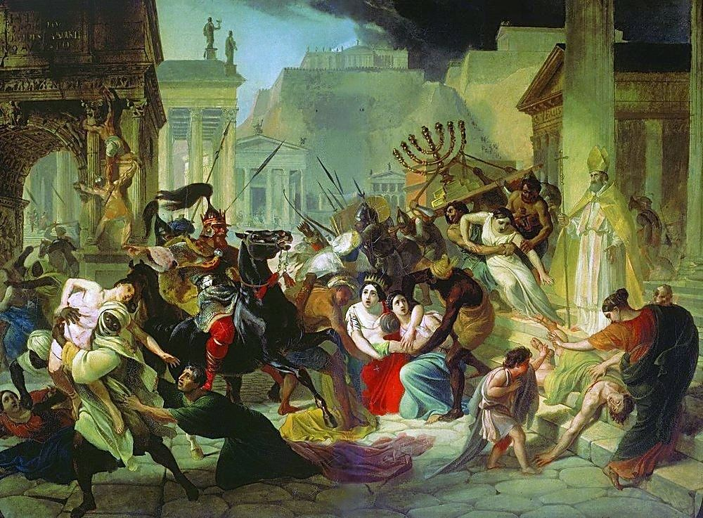 hith sacking Rome 455