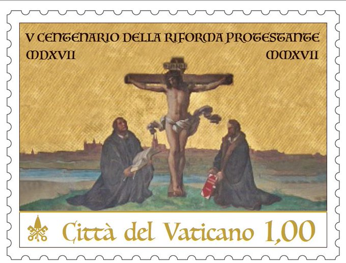 vatican stamp luther reformation