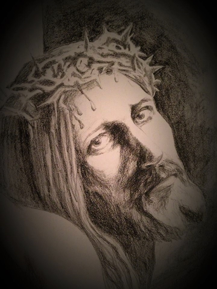 Christ on cross my sketch