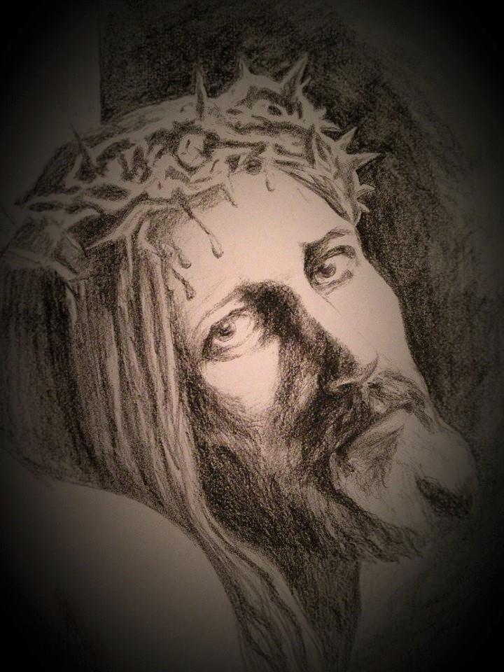 Christ on cross my sketch
