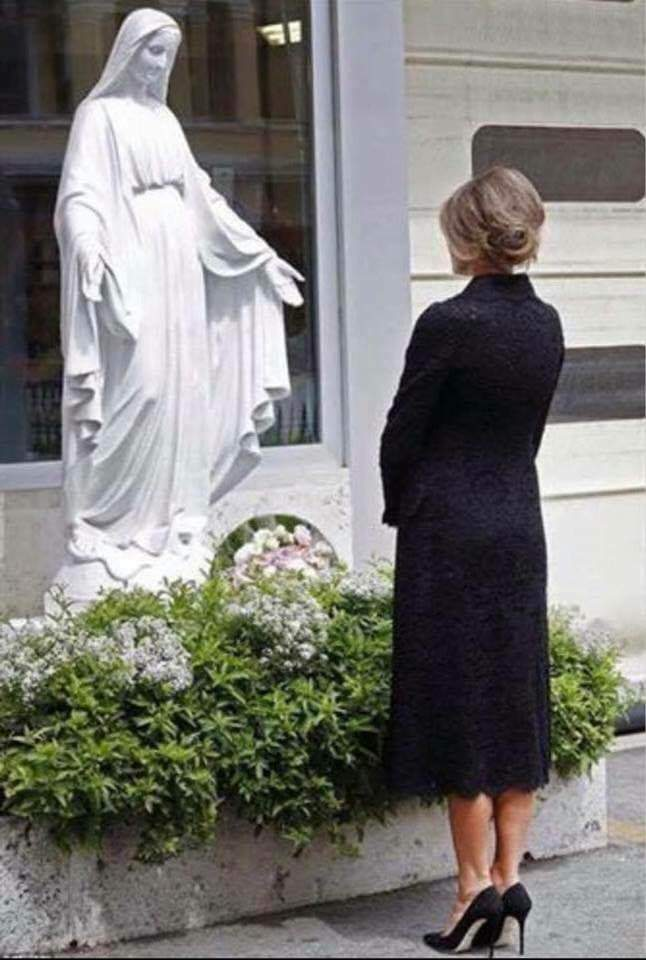 melania trump and Our Lady