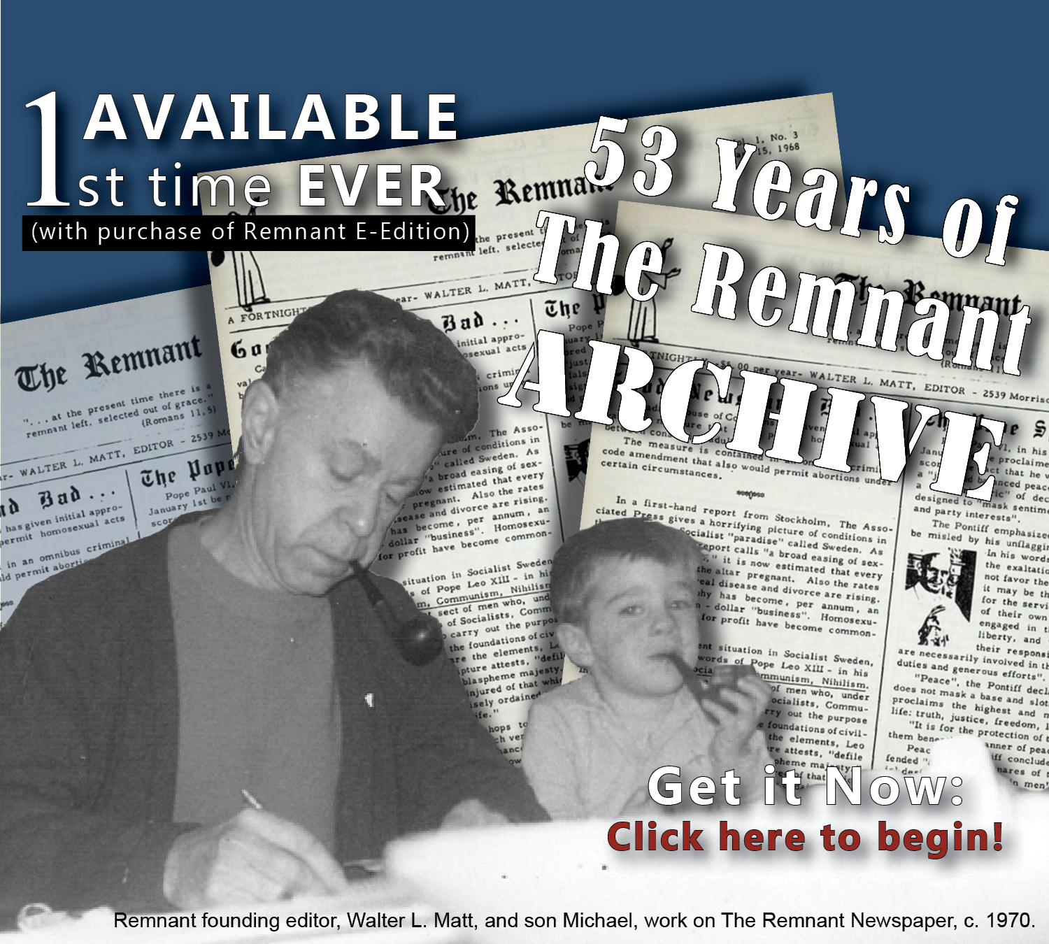 Archive ad for website