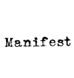 manifest stamp on white background vector 25618027