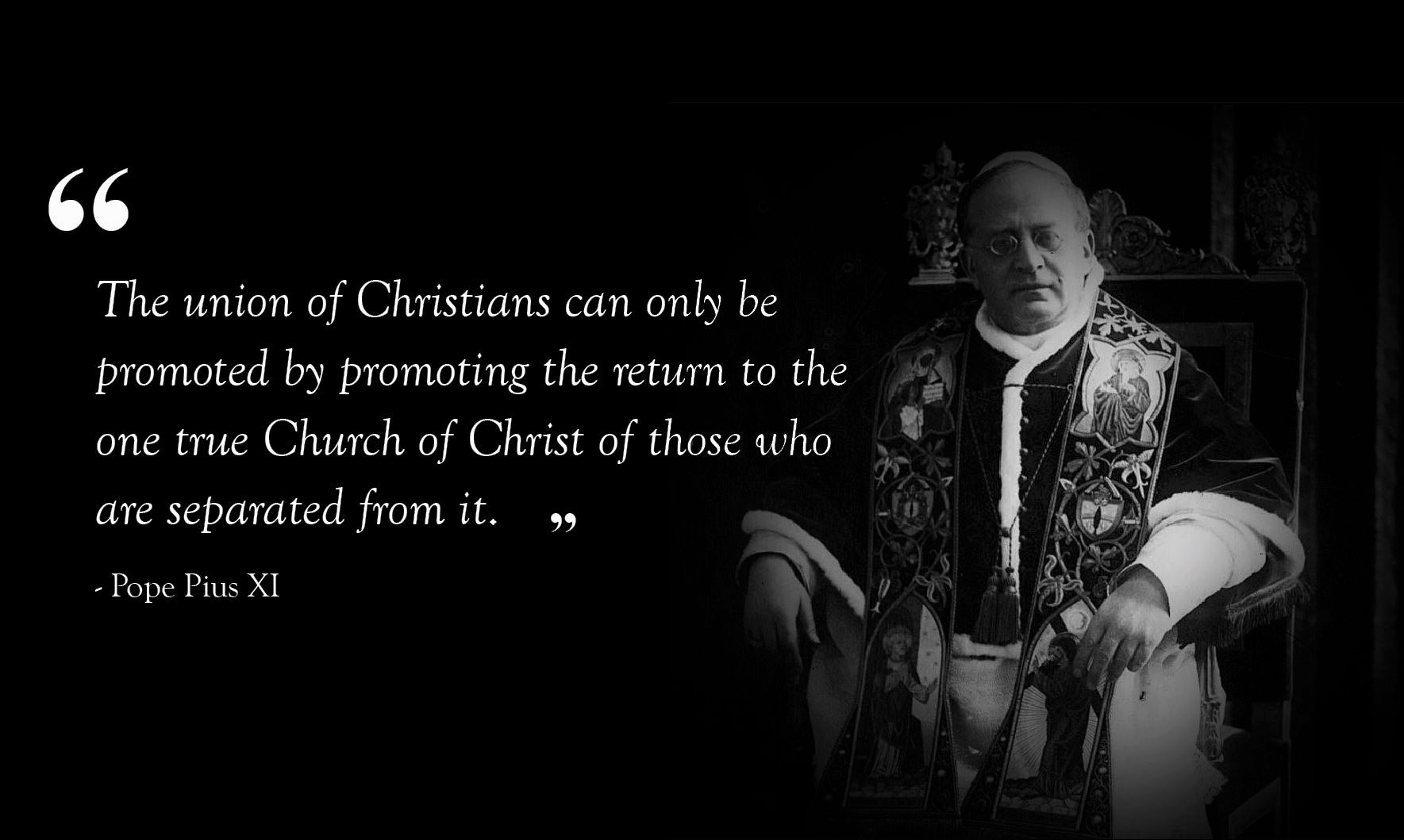 pius xi quote