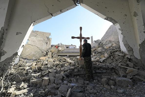 syrian church rubble