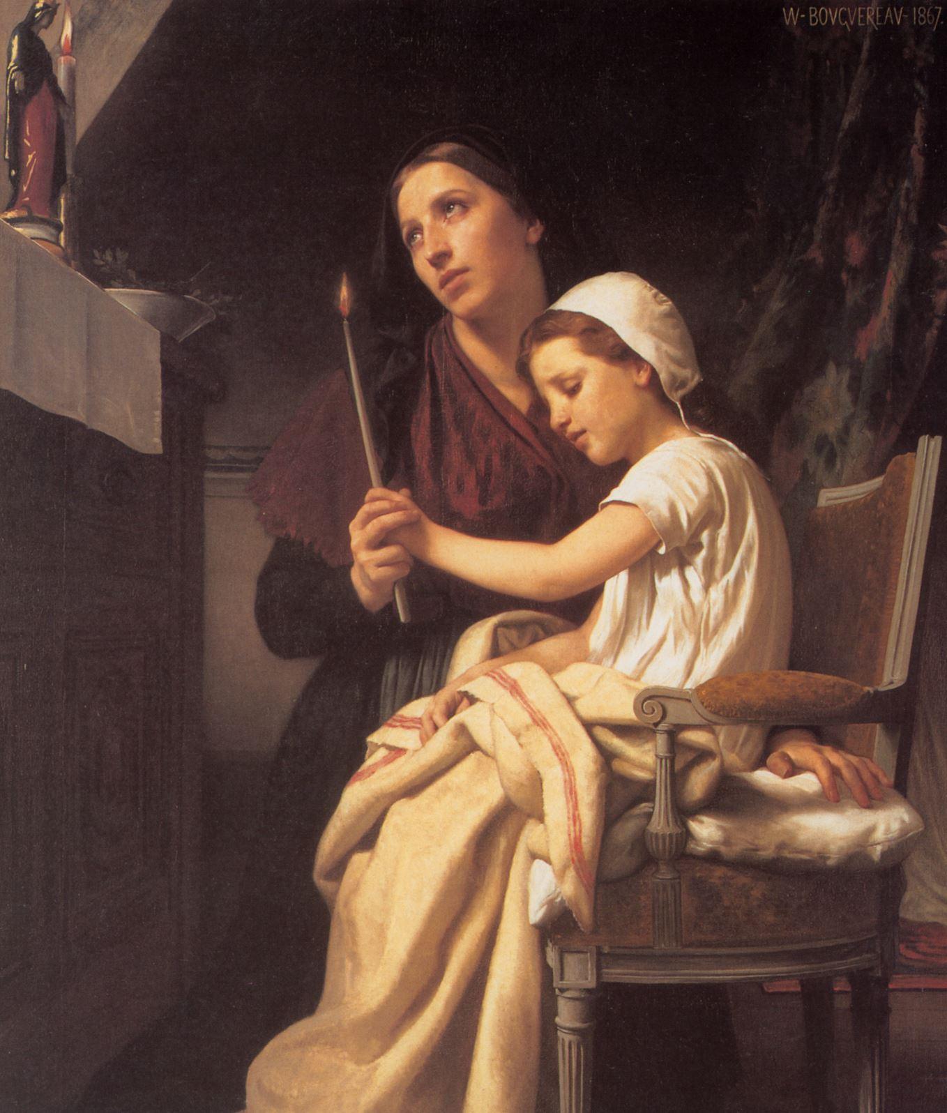 thank offering by Bouguereau