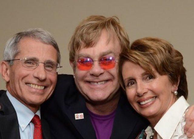 Fauci Elton Pelosi