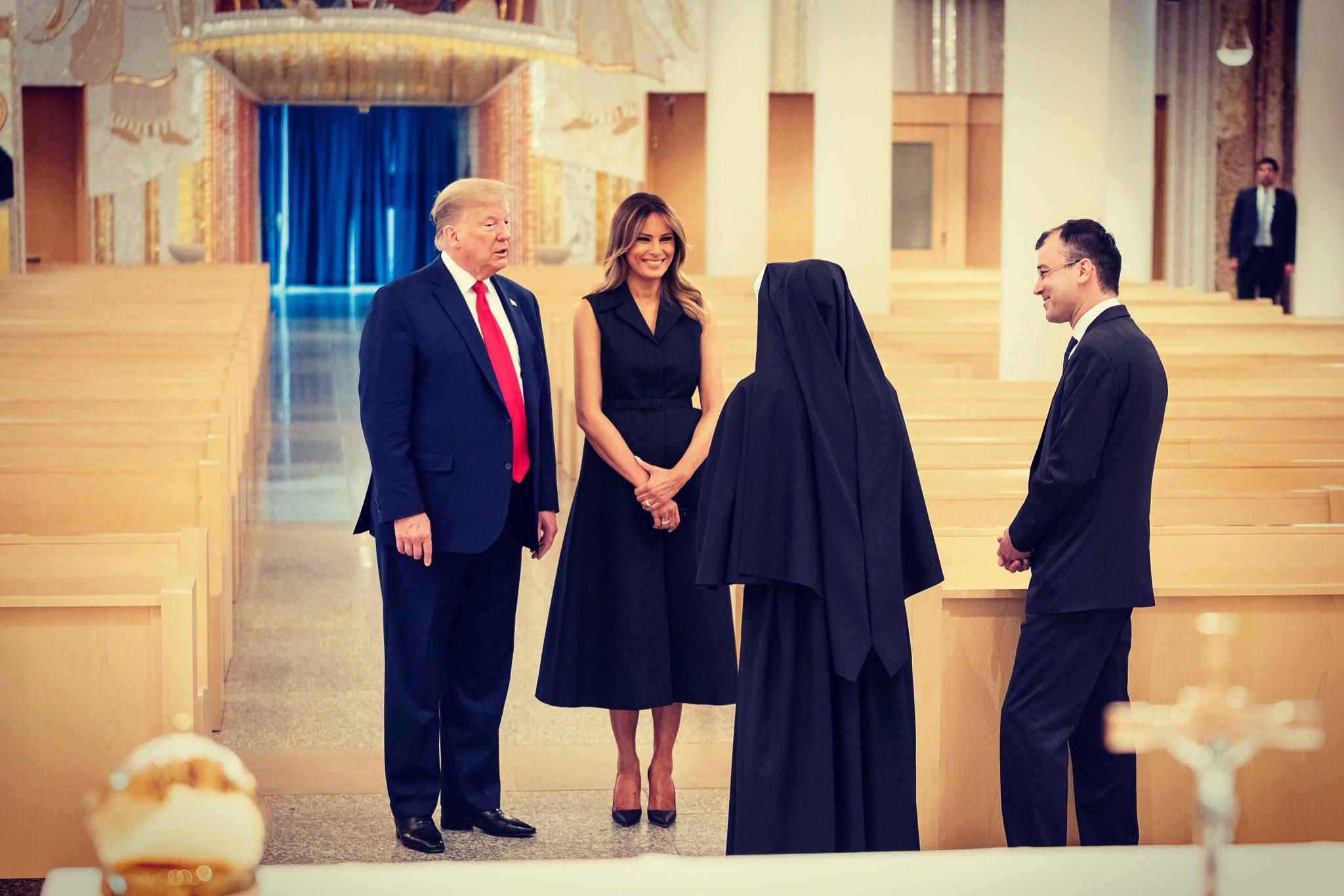Melania Trump visit JPII shrine