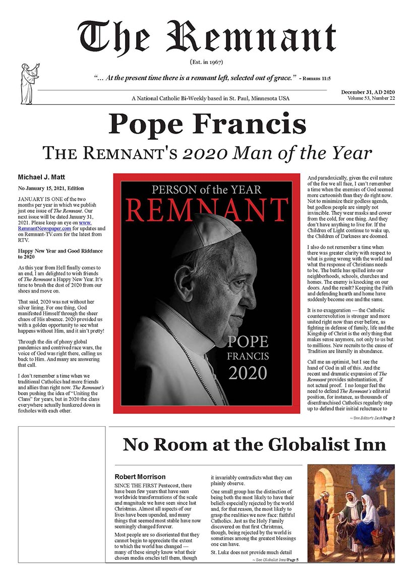 Remnant Newspaper 11 15 2020 PDF Version Page 01
