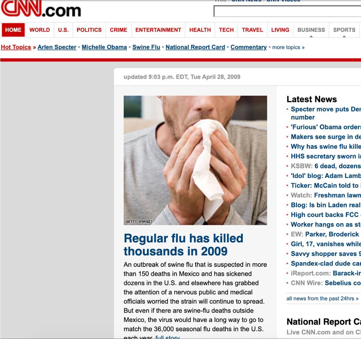 cnn on swine flu