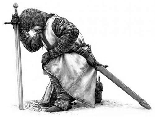 knight praying