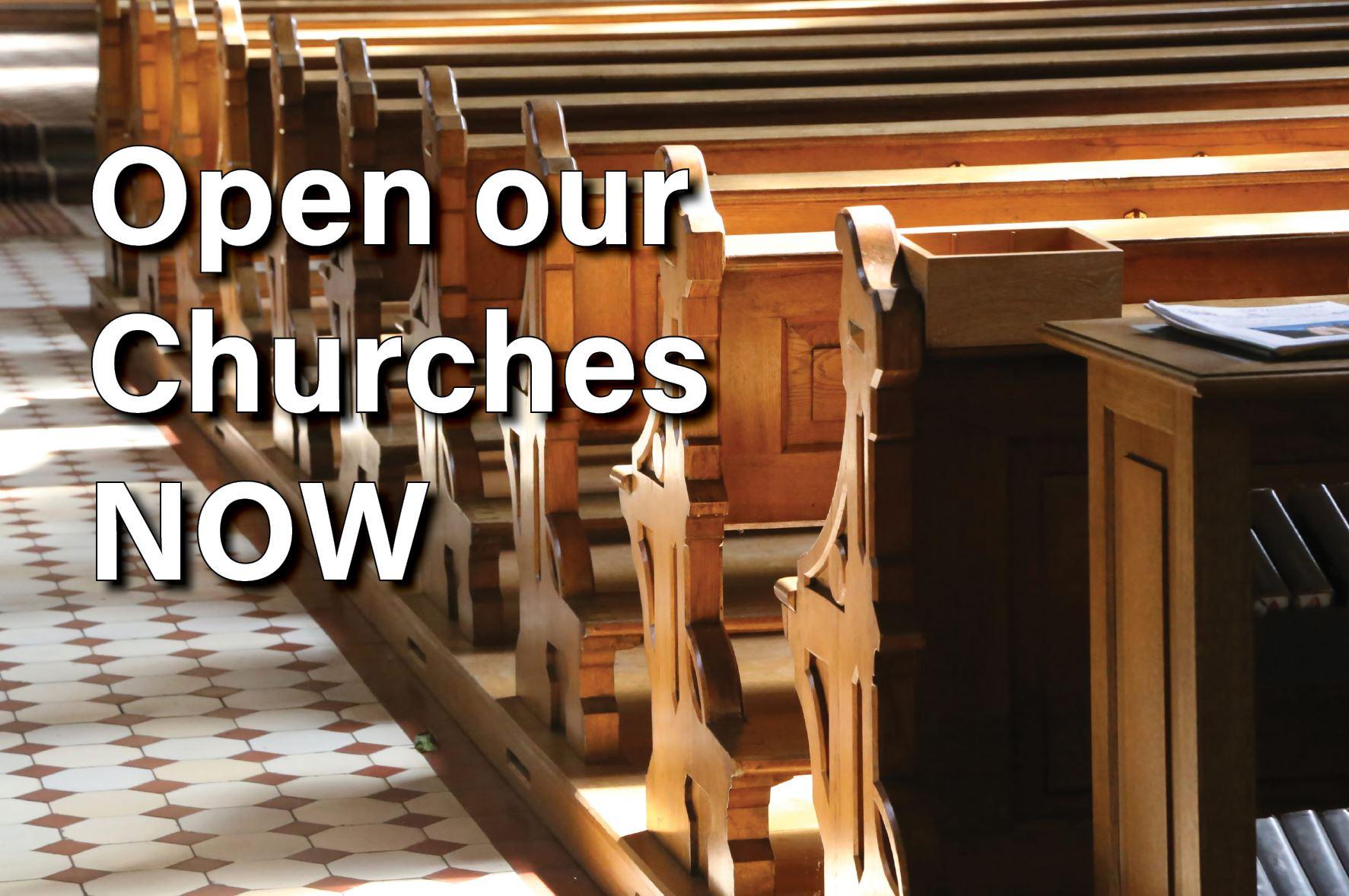 open churches meme