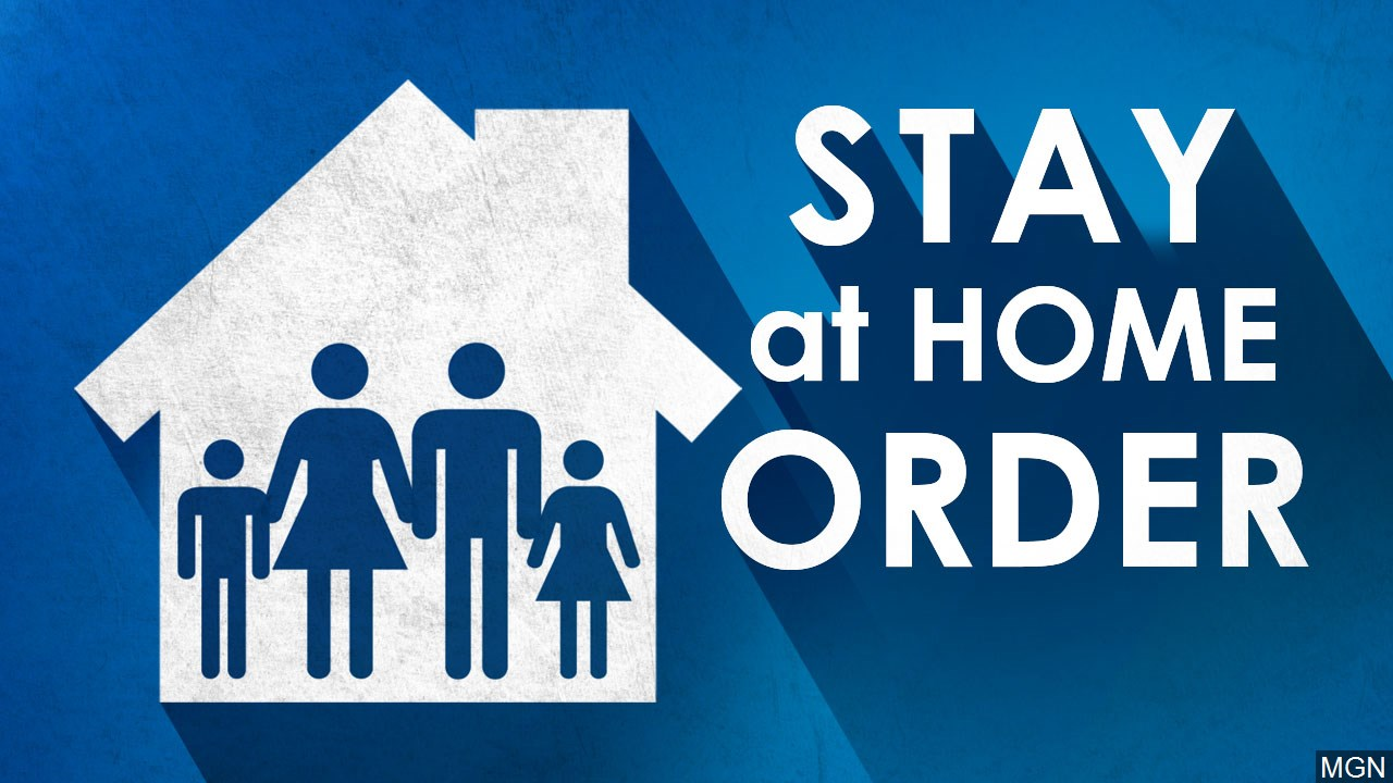 stay home order graphic