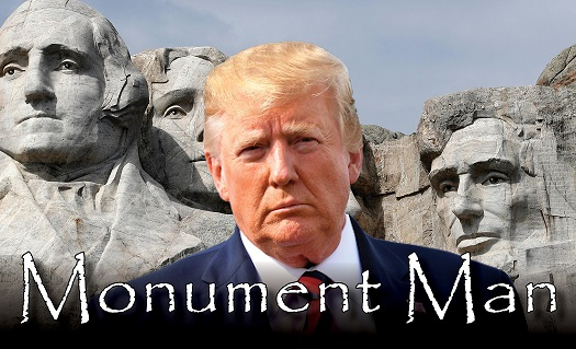 trump thumbnail monument man