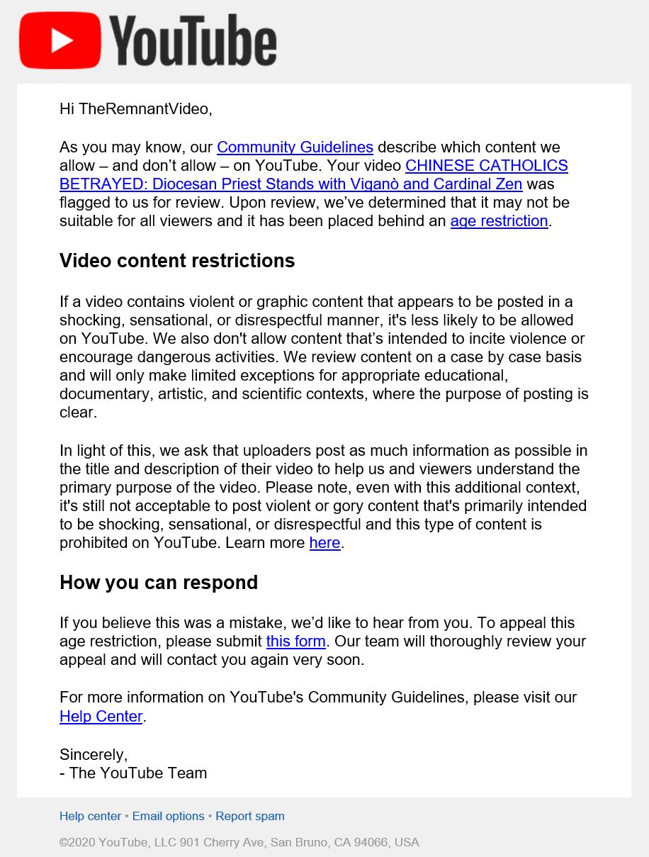 youtube warning screenshot