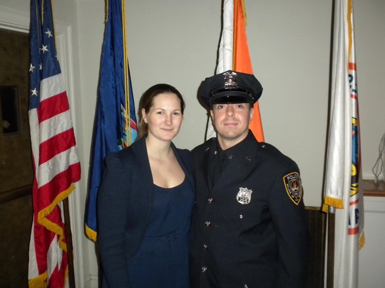 James cop and wife
