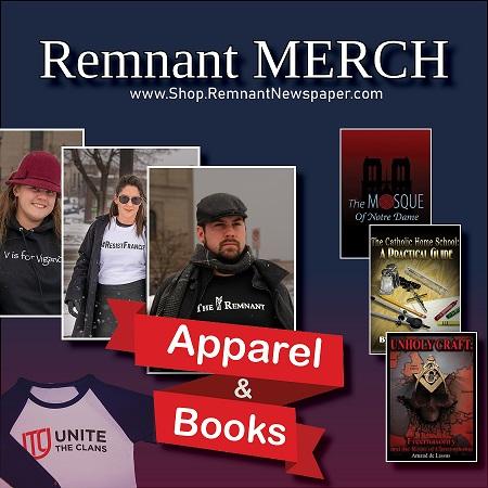 Remnant Merch ad UNite the clans