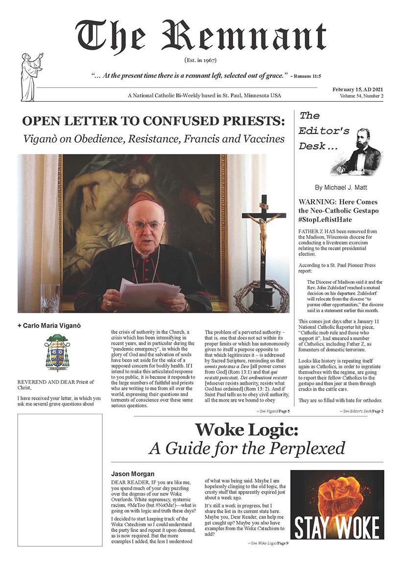 Remnant Newspaper 11 15 2020 PDF Version Page 01