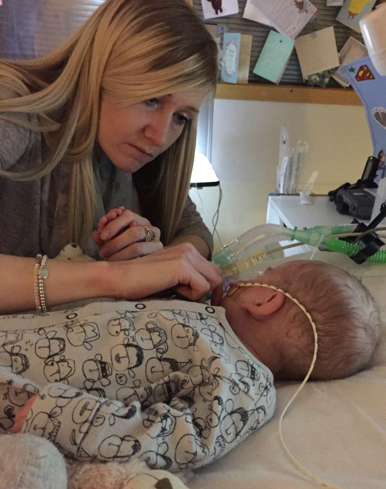 Charlie Gard and his mom