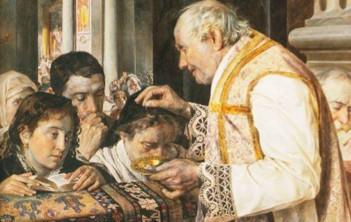 Communion painting so sweet