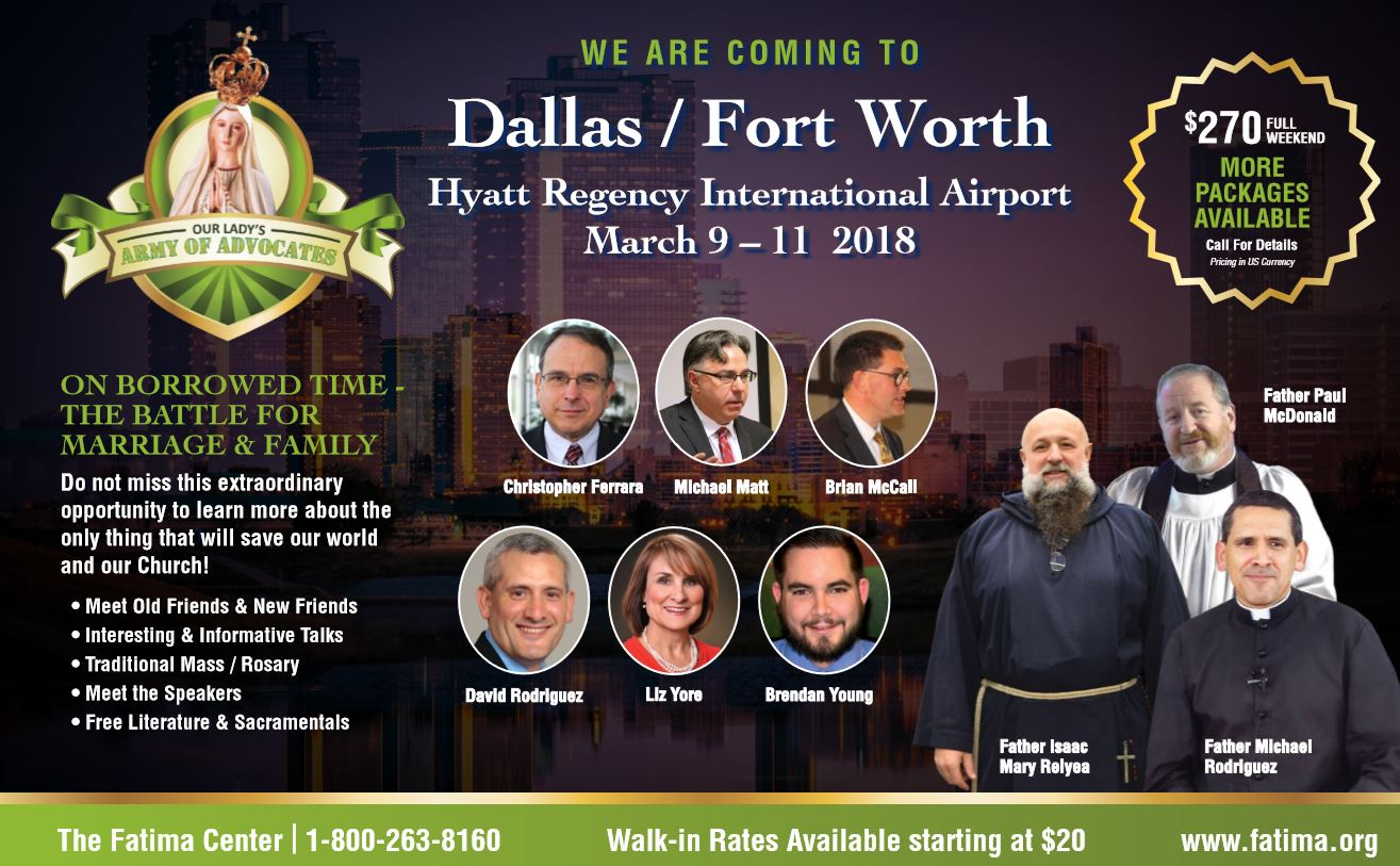 Fatima Center Confernece Dallas Flyer