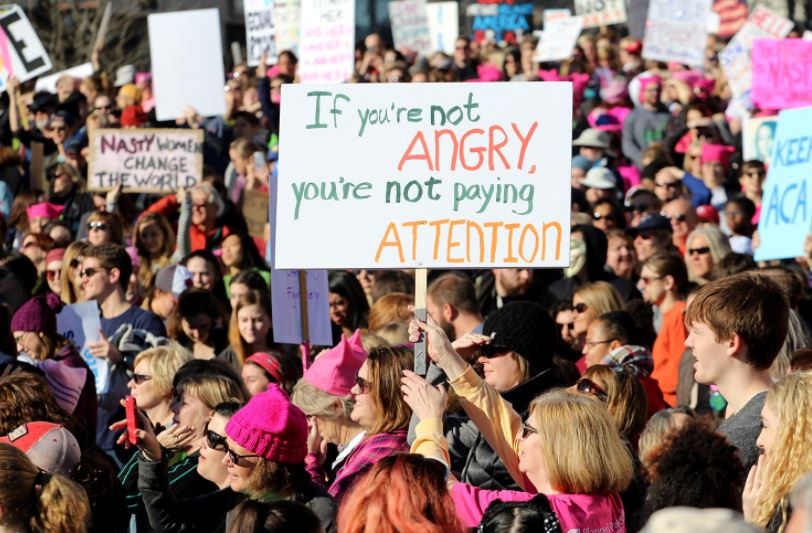 angry womens march