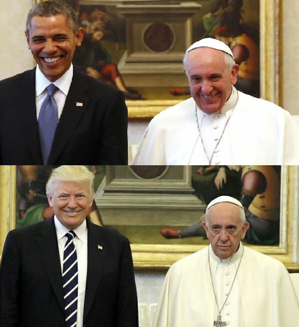 pope trump obama