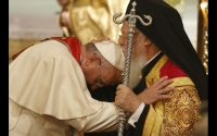 "Pope Francis asked the Ecumenical Patriarch Bartholomew I to ""bless me and the Church of Rome"""