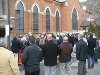 Well over 550 people braved subzero temperatures to celebrate the rededication of St. James