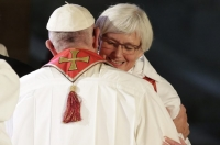 "Pope Embracing Lutheran ""Bishop"" Lady in Lund, Sweden, 2016"