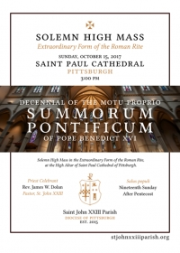 Solemn High Mass in Pittsburgh, Oct 15, 2017