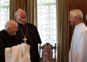 What's so funny, Cardinals Dolan, McCarrick & Wuerl?